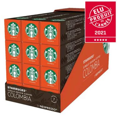 Capsule Starbucks ® by Nespresso ® Colombia - 12 tubes - 120 capsules