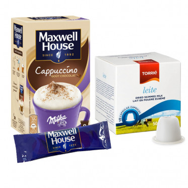 Pack Cappuccino Maxwell House Milka pour Nespresso - 10 boissons