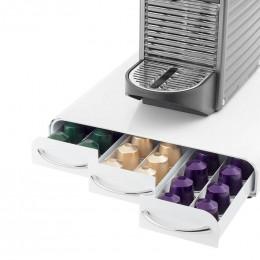 Range Dosettes pour Capsules Nespresso® 3 tiroirs : 60 capsules - Coloris Blanc