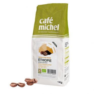 Café en Grains Bio Café Michel Éthiopie Moka Sidamo - 1 kg