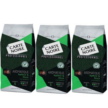 Café en Grains Carte Noire Aromatique - 3 paquets - 3 Kg