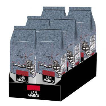 Café en Grains San Marco - 6 paquets - 6 Kg