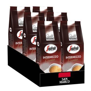 Café en Grains Segafredo Intermezzo Crema - 6 paquets - 6 Kg