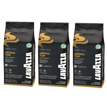Café en Grains Lavazza Expert Aroma Top - 3 paquets - 3 Kg
