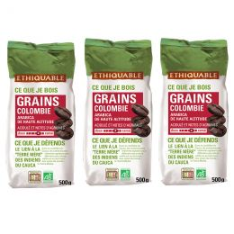 Café en Grains Bio Éthiquable Colombie - 1,5 kg