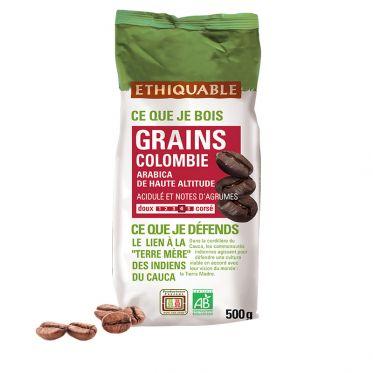 Café en Grains Bio Éthiquable Colombie - 500 gr
