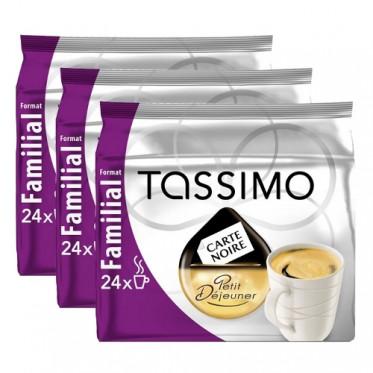 """Capsule Tassimo Carte Noire Petit Déjeuner """"Format Familial"""" 3 paquets - 72 T-Discs"""
