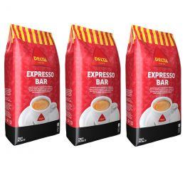 Café en Grains Delta Expresso Bar - 3 paquets - 3 Kg