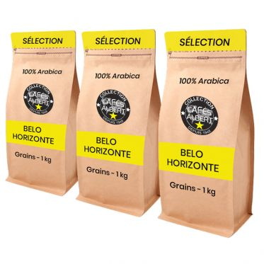 Café en Grains Cafés Albert Belo Horizonte - 3 paquets - 3 kg