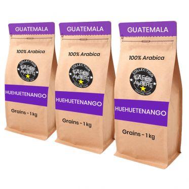 Café en Grains Cafés Albert Huehuetenango - 3 paquets - 3 kg
