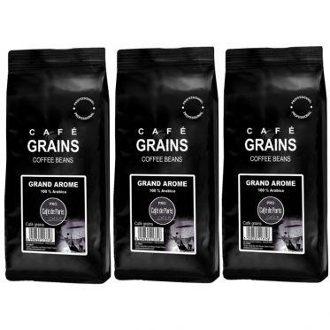Café en Grains Café de Paris Arabica Grand Arôme - 3 paquets - 3 Kg