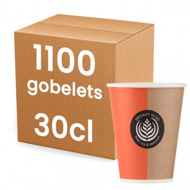 Gobelet en Gros en Carton pour boissons chaudes 30 cl - 1080 gobelets