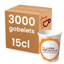 Gobelet en carton recyclable et écologique - Coffee Webstore - 15 cl par 3000