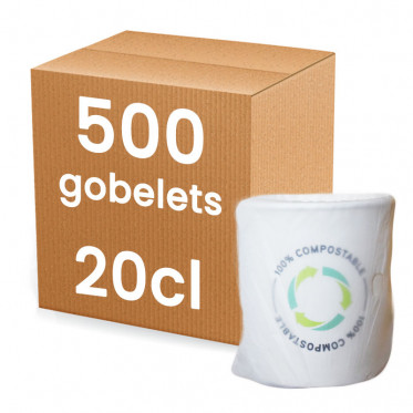 Gobelet en carton Emballage Individuel 20 cl - par 500