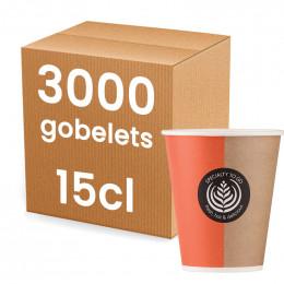 Gobelet Distributeur Automatique en Carton pour boissons chaudes 15 cl - par 3000