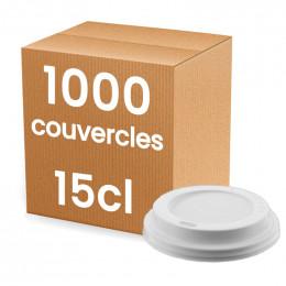 Couvercle pour Gobelet Carton 15 cl - 1000 couvercles