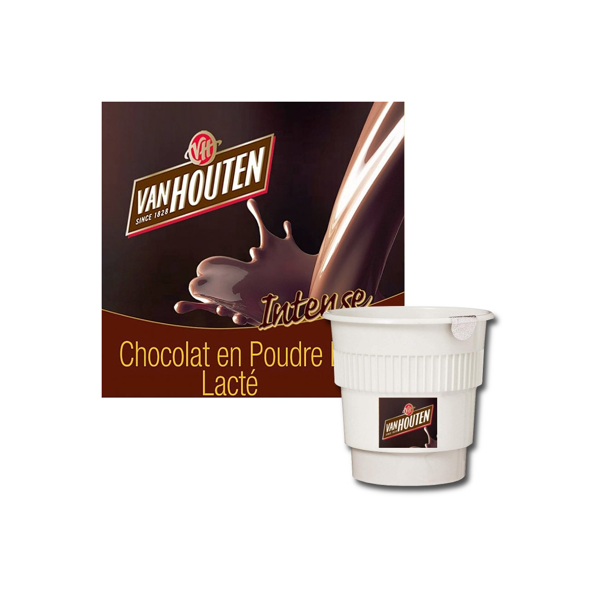 gobelet pr dos van houten chocolat chaud lact 20 boissons coffee webstore. Black Bedroom Furniture Sets. Home Design Ideas