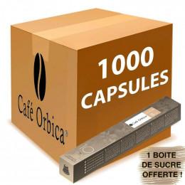 Capsule Nespresso Compatibl eCafé Orbica Cremoso - 100 tubes - 1000 capsules