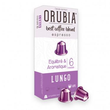 Capsule Nespresso Compatible Café Orubia Lungo - 10 capsules