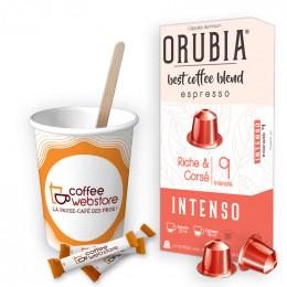 Pack Capsule Nespresso Compatible Orubia Intenso - 200 boissons
