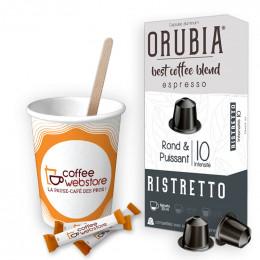 Pack Capsule Nespresso Compatible Orubia Ristretto - 200 boissons