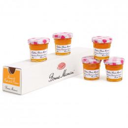 Confiture Bonne Maman Ananas et Fruits de la Passion 30 gr - 5 mini pots en verre