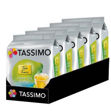 Capsule Tassimo Thé Vert Menthe Tea Time Green Tea & Mint - 5 paquets - 80 capsules