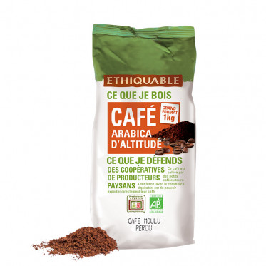 Café Moulu Éthiquable Équateur Pérou - 1 kg