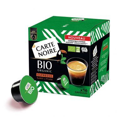 Capsule Dolce Gusto Compatible Café Bio Carte Noire Espresso Bio - 16 capsules