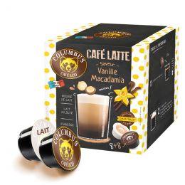 Capsule Dolce Gusto Compatible Café Latte Columbus café Vanille Macadamia - 8 boissons
