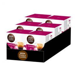 Capsules Nescafé Dolce Gusto Café Espresso - 6 boîtes - 96 capsules