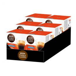 Capsules Nescafé Dolce Gusto Café Lungo Décafféinato - 6 boîtes - 96 capsules