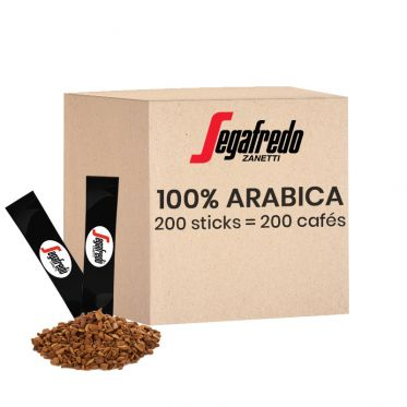 Café Soluble Segafredo 100% Arabica - 200 sticks