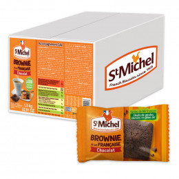 Mini Brownie St-Michel au Chocolat - 300 mini brownies emballées individuellement