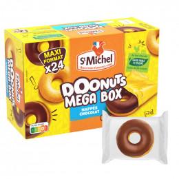 Biscuit St Michel Doonuts Mega Box nappés chocolat - 24 donuts emballés individuellement
