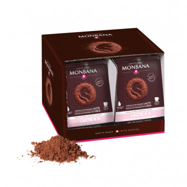 Chocolat Chaud Monbana 4 Etoiles - Boîte distributrice - 50 dosettes individuelles