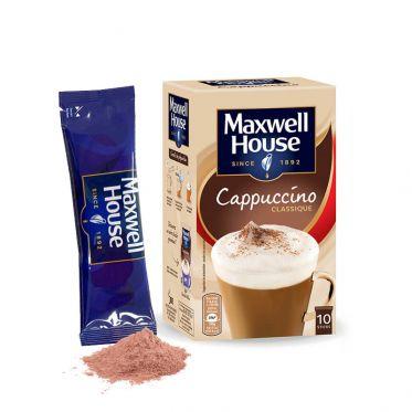 Cappuccino Maxwell House Classique - 10 dosettes individuelles