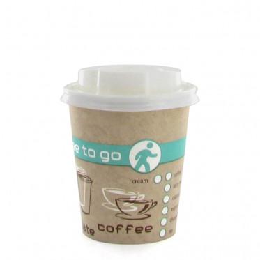 Gobelet en Carton avec couvercles Coffee To Go 20 cl - par 100