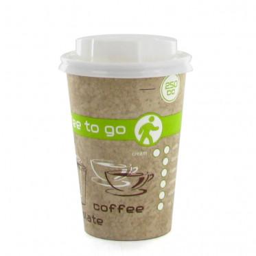 Gobelet en Carton avec couvercles Coffee To Go 25 cl - par 100