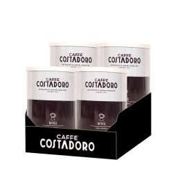 Café Moulu Costadoro Arabica Moka - 4 boites métal - 1 Kg