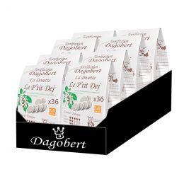 Dosette Senseo compatible Café Dagobert Bio Petit Déj - 8 paquets - 288 dosettes