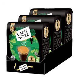 Dosettes Senseo compatible Café Bio Carte Noire Délicat - 3 paquets - 96 dosettes