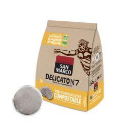 Dosette Senseo compatible Café Bio San Marco Delicato n°7 - 36 dosettes compostables