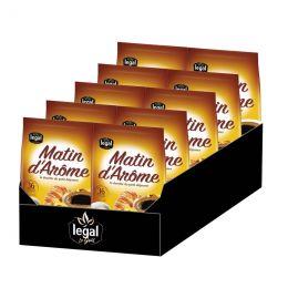 Dosette Senseo compatible Café Legal Matin d'Arôme – 10 paquets – 360 dosettes
