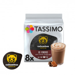 Capsule Tassimo Chocolat Chaud Columbus Le Choco Caramel Beurre Salé - 8 boissons