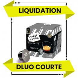 DESTOCKAGE - Capsule Dolce Gusto Compatible Café Carte Noire Ristretto - 16 capsules - DLUO 30/11/2021