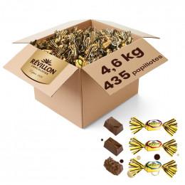 Carton de Papillotes Révillon : Assortiment de Chocolat au lait - 4,6 Kg