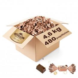 Carton de Papillotes Révillon : Chocolat praliné éclats cookies nature - Chocolat au lait - 4,6 Kg