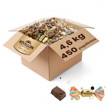 Carton de Papillotes Révillon : Eclats de meringue au Chocolat au lait - 4,3 Kg