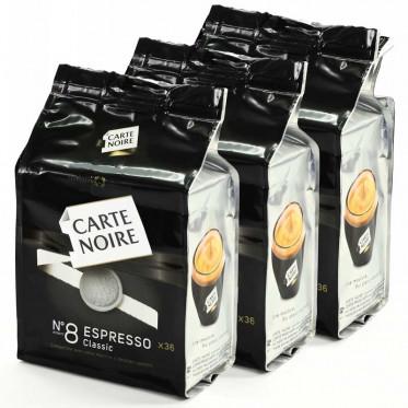 Dosette Souple Carte Noire n°8 Espresso Classic 3 paquets - 108 pads